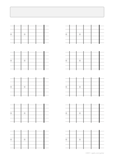 Guitar blank fretboard charts 4 frets left-handed with inlays
