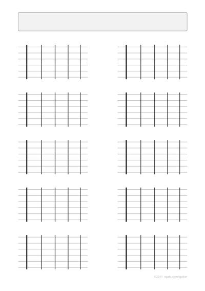 blank guitar chord diagrams pdf